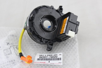 New Genuine Toyota airbag clock spring part number 84307-74020 to fit Toyota Wish vehicles.